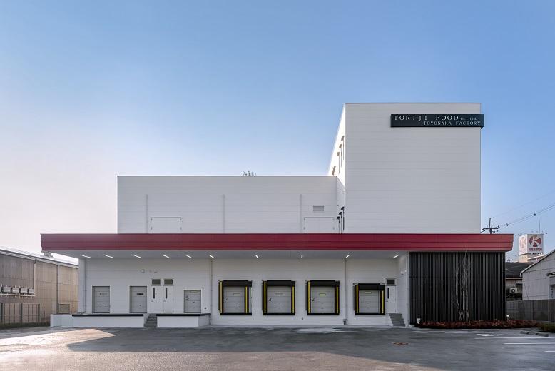 食品工場の建設施工実績「鳥治食品株式会社 豊中本社工場」