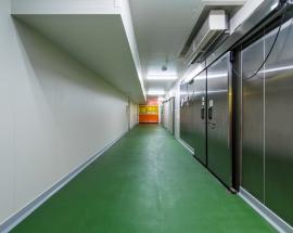 食品工場の建設施工実績「イカリソース西宮工場 計量室」